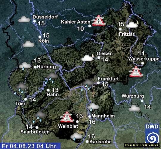 Wetter in Rheinland-Pfalz / Hessen // Saarland