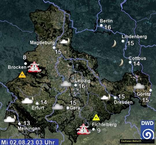 Wetter in Sachsen, Sachsen-Anhalt und Thüringen